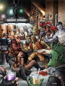 "Cover from West End Games' ""Wretched Hive of Scum and Villainy"" book by Chris Trevas"