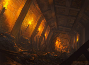 Creating a Dungeon by Noah Bradley